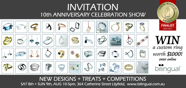 Bilingual Design 10 Year Anniversary Jewellery Competition