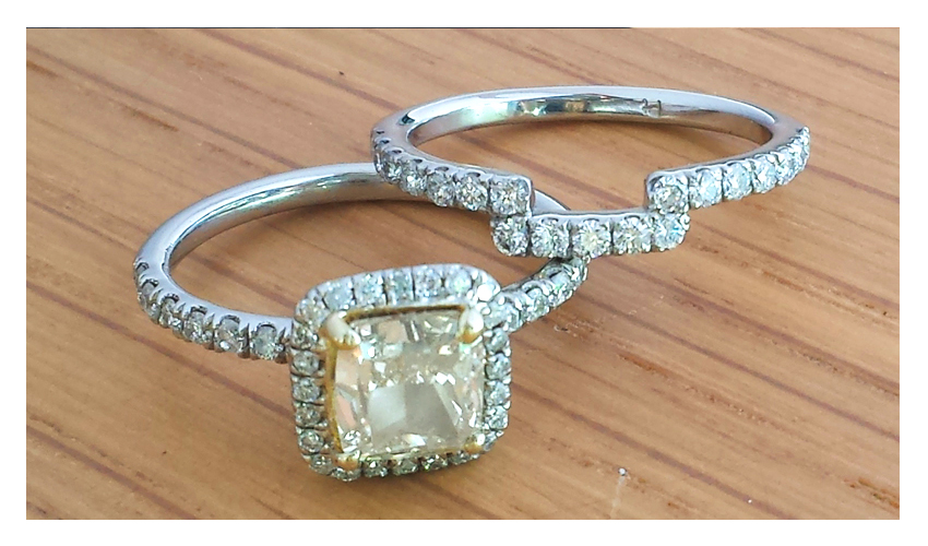 Karina_diamond_engagement_princess_Matching_wedding_band_pave_set
