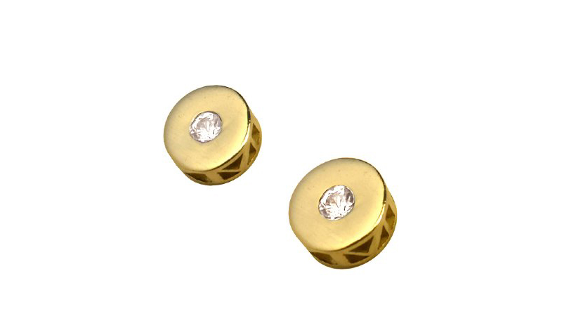 White_Sapphire_earrings_studs_yellow_gold_roman_numerals