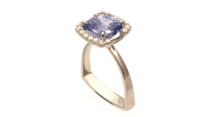 blue_cshion_sapphire_unique_ring_diamond_halo_custom_design_australia