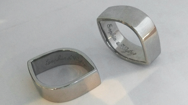 custom_wedding_rings_union_matching_white_gold_engraved_unique_shape