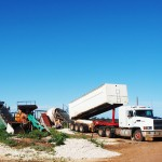 Aggitator_site_opal_mining_mack_truck_dump_dirt