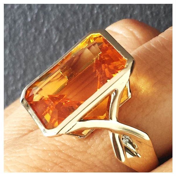 Citrine Ring Square Costume